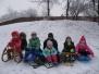 Sokolíci na sněhu